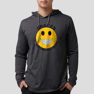Braces Make Smiling Faces Mens Hooded Shirt