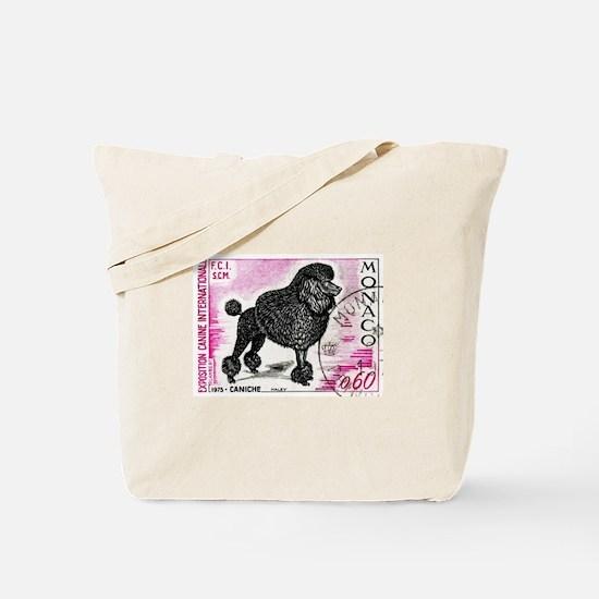 1975 Monaco Dog Show Poodle Stamp Tote Bag