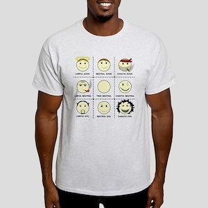 Face Alignment Chart (Black Text) Light T-Shirt