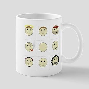 Face Alignment Chart (White Text) Mug