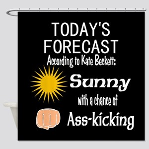 Castle Chance of Asskicking Shower Curtain