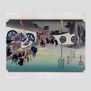 Seki - Hiroshige Ando - 1833 Throw Blanket