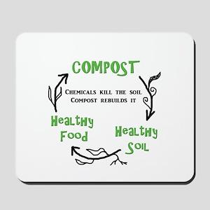Compost rebuilds the soil Mousepad