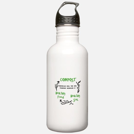 Compost rebuilds the soil Water Bottle