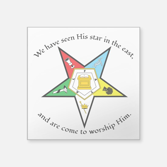 "Eastern Star Matthew 2:2 Square Sticker 3"" x"