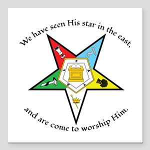 Eastern Star Matthew 2:2 Square Car Magnet 3""