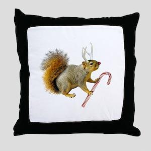 Reindeer Squirrel Throw Pillow