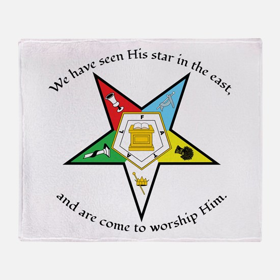 Eastern Star Matthew 2:2 Throw Blanket
