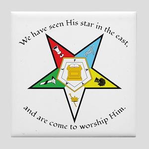 Eastern Star Matthew 2:2 Tile Coaster