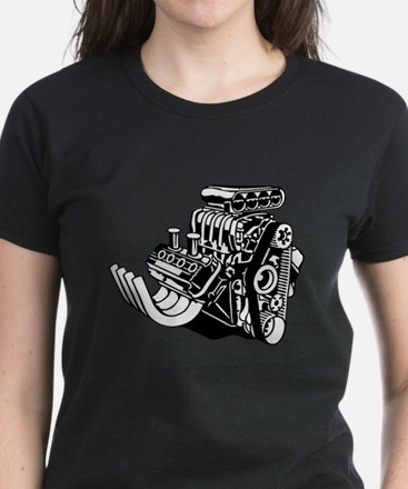 Hemi Hotrod Engine Women's Dark T-Shirt