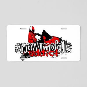 Snowmobile Addict Aluminum License Plate