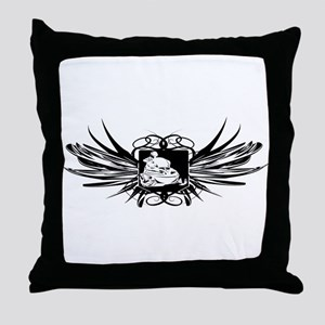 Snowmobile Crest Throw Pillow