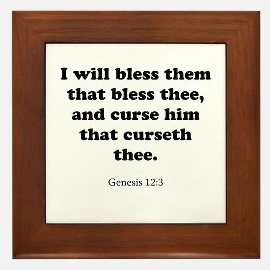 Genesis 12:3 Framed Tile