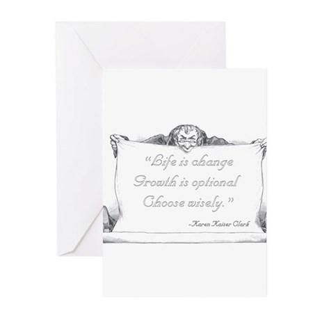 Life is change. Greeting Cards (Pk of 10)