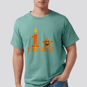 First Birthday Starfish Mens Comfort Colors Shirt