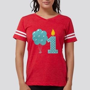 First Birthday Candle And Ba Womens Football Shirt