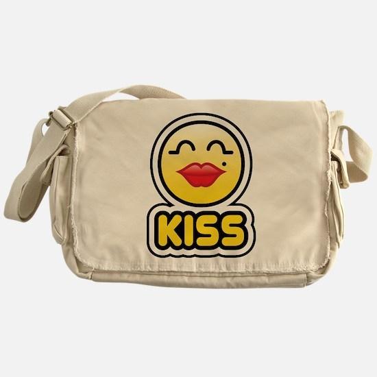 kiss bbm smiley Messenger Bag