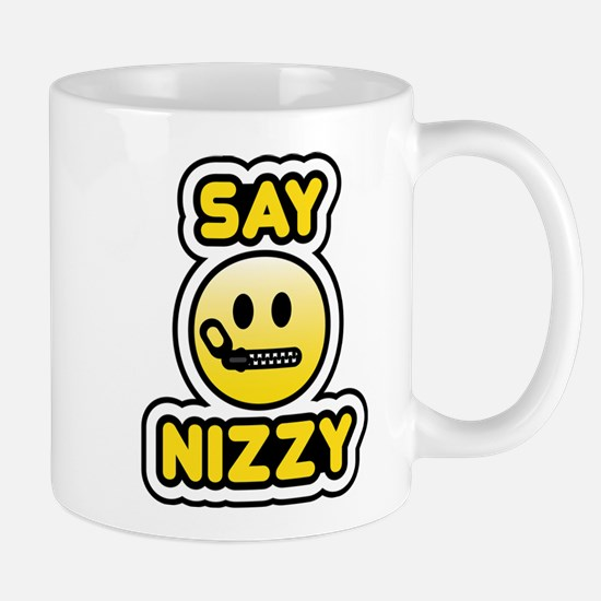say nizzy bbm smiley Mug
