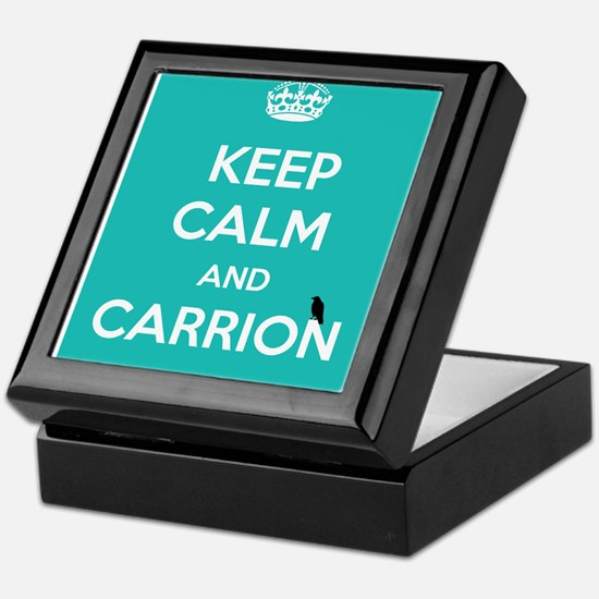 KEEP CALM AND CARRION Keepsake Box