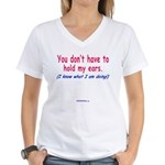 YouEars Women's V-Neck T-Shirt