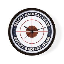 Defeat Radical Islam Wall Clock