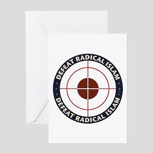 Defeat Radical Islam Greeting Card