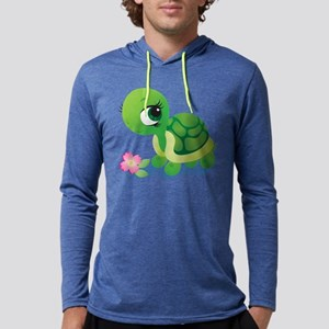 Toshi the Turtle Mens Hooded Shirt