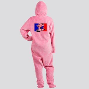 france-soccer-pig Footed Pajamas