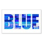 BLUE Rectangle Sticker