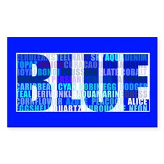 BLUE Rectangle Decal