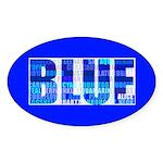BLUE Oval Sticker