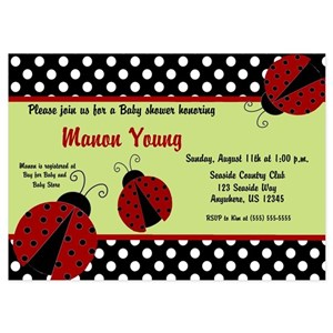 Ladybug baby shower invitations and announcements cafepress filmwisefo