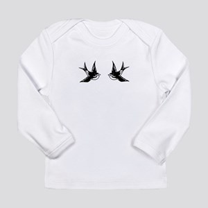 Vintage Tattoo Swallows Long Sleeve Infant T-Shirt