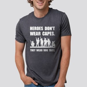 Heroes Wear Dog Tags Mens Tri-blend T-Shirt