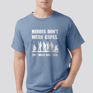 Heroes Wear Dog Tags Mens Comfort Colors Shirt