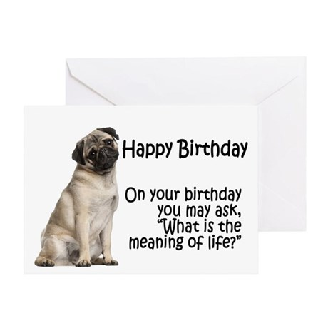 Funny Pug Birthday Card By Shopdoggifts