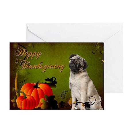 Pug Thanksgiving Card