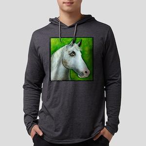 Appaloosa White Horse Mens Hooded Shirt