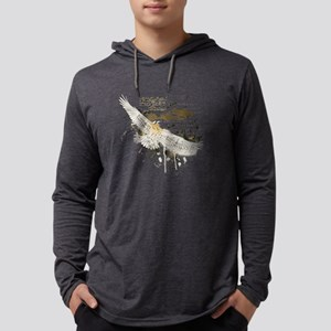 Vintage Flying Eagle Mens Hooded Shirt