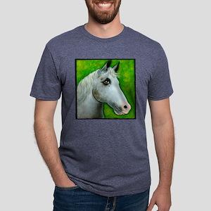 Appaloosa White Horse Mens Tri-blend T-Shirt