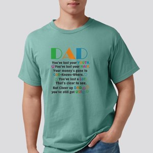 Funny Fathers Day Saying Mens Comfort Colors Shirt