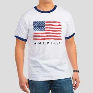 American Flag T-Shirt / Flag Art