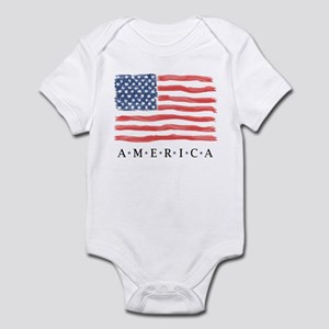American Flag Infant Onesie Body Suit