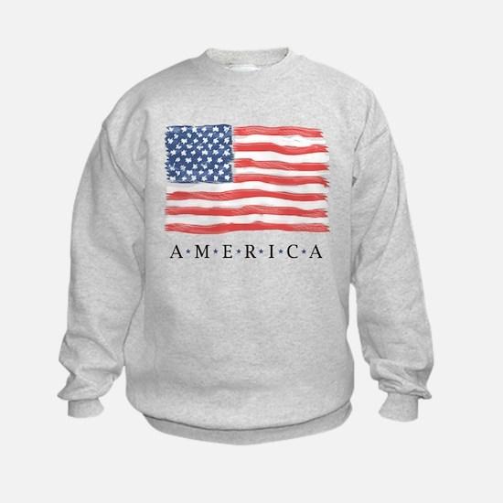 American Flag Sweatshirt