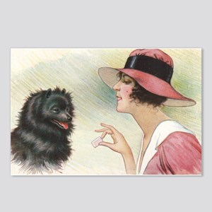 Pomeranian Dog Woman Postcards (Package of 8)