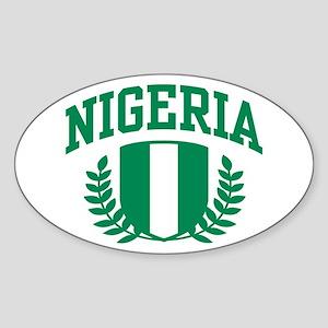 Nigeria Sticker (Oval)