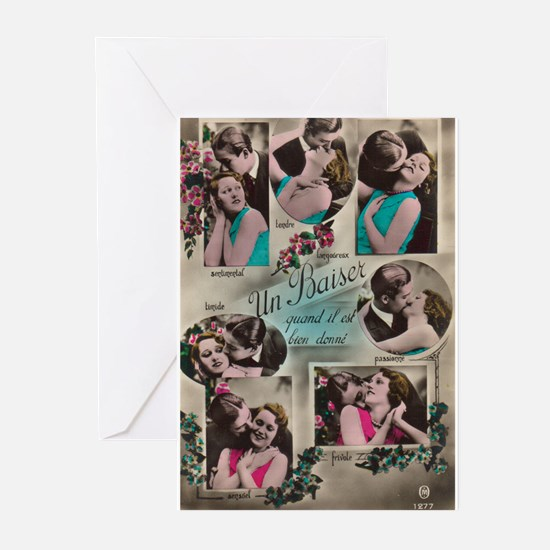 French Kiss Art Greeting Cards (Pk of 10)