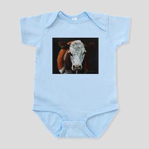 Hereford Cattle Infant Bodysuit