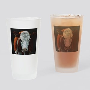 Hereford Cattle Drinking Glass