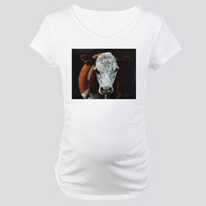 Hereford Cattle Maternity T-Shirt